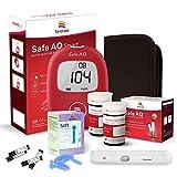 sinocare Blutzuckermessgerät Set/Blutzucker-Testkit mit Blutzuckerteststreifen x 50 & schmerzfreie Lanzetten x 50 & Aufbewahrungsbox - mg/dL (Safe AQ Smart)