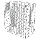 vidaXL Gabionen Hochbeet Verzinkter Stahl 90x50x100 cm Pflanzkorb Steinkorb