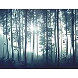 Fototapete Wald 396 x 280 cm - Vlies Wand Tapete Wohnzimmer Schlafzimmer Büro Flur Dekoration Wandbilder XXL Moderne Wanddeko - 100% MADE IN GERMANY - 9326012a