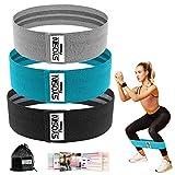 SYOSIN Fitnessbänder, [3er Set] Widerstandsbänder Set Loop-Band für Hüften und Gesäß, 3 Widerstandsstufen für Hintern, Beine und Ganzkörpertraining, Resistance Hip Bands …