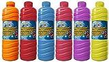 diverse (3,08€/L) 5 x Seifenblasenflüssigkeit Seifenblasen 1 Liter Nachfüllflaschen