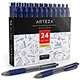 Arteza Gelstifte, 24 blaue Kugelschreiber mit Geltinte, Gelschreiber mit einziehbarer 0,7 mm Stiftspitze, hochwertige Gelroller für Bürobedarf