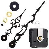 Mudder Quarzuhrwerk mit 170 mm/ 6,7 Zoll Uhrzeiger für DIY Wanduhr (Schwarz)