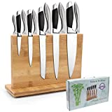 Magnetischer Messerblock, natürlicher Bambus-Messerhalter mit starken Magneten, doppelseitiger Besteckständer und Aufbewahrungsregal, kommt in einer Geschenkbox