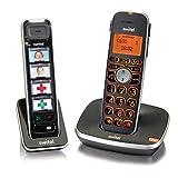 Switel D112 Vita Comfort, mobiles DECT Senioren-Telefon Set, große beleuchtete Tasten und Display im D100, separates D11 Fototasten-Mobilteil