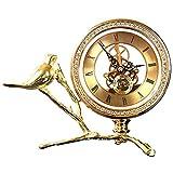 GAL Exquisite Leichte Luxusuhr Dekoration/Wohnzimmeruhr/Creative Desktop/Schlafzimmerbett/Arbeitsuhr Dekoration