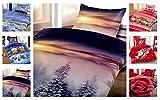 Leonado Vicenti Winter Kuschel Flausch Fleece Bettwäsche Weihnachten Designs, Winterhills 135x200 + 80x80