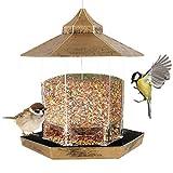 Gohhey Futterhaus für Vögel Fettfutter Kunststoff zum Aufhängen Wildvogel Futterampel Futterstelle Futterstation