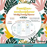 Familien Wochenkalender Flowers 2021 - Familien-Timer - Termin-Planer - Kinder-Kalender - Familien-Kalender - 30,5x30,5