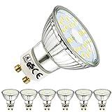 EACLL GU10 LED Kaltweiss Leuchtmittel 5W 6000K 450 Lumen Glühbirnen perfekter Ersatz 50W Halogen Lampen. Lichtwinkel 120 Grad Kaltweiß Licht Tageslichtweiß Birnen, 6 Pack