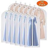 KEEGH 12x Kleidersack kleiderhülle Abdeckungen für Lagerung, 152cm Anti-Motten-Schutz, faltbar waschbar für langes Kleid Tanzkostüme Anzüge Kleider Mäntel (152cm/peva 12pcs)