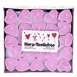 pajoma Teelichte 'Love You' im 50er Pack, Herzform