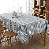 YISHU Abwaschbar Tischdecke Eckig Lotuseffekt Wasserdicht Segeltuch Tischtuch Fleckschutz Pflegeleicht Schmutzabweisend Tischwäsche grau 140 * 180cm