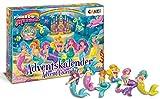 CRAZE 24713 Adventskalender Rainbow Mermaid Weihnachtskalender Meerjungfrau für Mädchen Jungen Spielzeugkalender, kreative Inhalte, Tolle Überraschungen