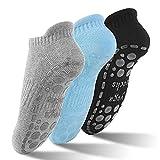 GOAMZ Yoga Socken rutschfeste Sportsocken für Damen mit Gummisohlen Atmungsaktivität ideal für Yoga Tanz Pilates Fitness von Größe 36 bis 41(3 Farben)