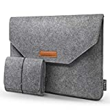 HOMIEE 15,4 15,6 Zoll Laptop Tasche mit zusätzlicher Aufbewahrungsbox und Mauspad, Aktentasche aus Filztablett, Tasche für 15,6 Zoll Laptop