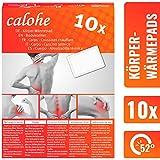 Wärmepflaster für Rücken, Schulter, Nacken I Wärmepad, Wärmespender für Massage und Entspannung | 10 Stück | Körperwärmer, Rückenpflaster, Thermopflaster