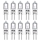GMY Lighting Halogen Stiftsockellampe G4 20W 12V 260lm 2800K Warmweiß Dimmbar 10 Pack