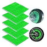 Bililike Speichenreflektoren 60 Stück, Fahrrad Reflektoren, Speichenreflektoren Fahrrad, Speichen Reflektor Sticks 360° Reflektoren Fahrrad für Clips Geeignet für alle gängigen Speichenräder