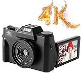 YinFun Digitalkamera 4K Fotoapparat Digitalkamera 48MP Kompaktkamera Digitalkamera Schwarz