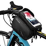 TAKEBEST Fahrrad Rahmentasche, Fahrradrahmen Tasche Fahrrad Tube Lenkertasche Wasserdicht Touchscreen Sonnenblende für Telefon Unter 7.0'