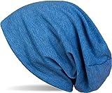 styleBREAKER Klassische Slouch Beanie Mütze, leicht und weich, Longbeanie, Unisex 04024018, Farbe:Blau meliert