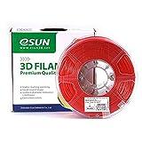 eSUN 3D Filament ABS, 1Kg, 1,75/3,00 mm - 11 färbig, 220-260℃, universal für 3D Drucker (1.75mm, rot)