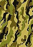1 x A4-Tortenaufleger aus Zuckerfolie mit grüner Armee-Camouflage – Perfekt für große Kuchen