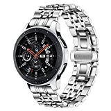 TRUMiRR Ersatz für Huawei Watch GT 2 46mm/GT Active/GT 46mm/Galaxy Watch 46mm Armband, 22mm Edelstahl Armband Metall Uhrenarmband für Samsung Gear S3 Frontier/Classic, Galaxy Watch 46mm