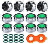 Anstore 12 Stück Strahlregler M24 Wasserhahn Ersatzteil Luftsprudler Wasserhahn, Mischdüse mit Filter inkl. Mischdüsenschlüssel, für Küche Bad