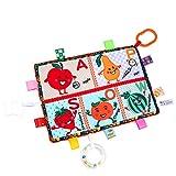 Lebeaut Baby-Sicherheitsdecke mit Beißring multifunktionale geprägte Tag Decke beruhigende Handtuch weiche Kuscheldecke Krippe hängende Aktivität Spielzeug Obst
