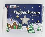 Weihnachtspyramide Hochwertige Puppenkerzen weiss - 1,0 cm Durchmesser - Original Erzgebirge - Müller Kleinkunst
