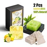2 x Handgemachte Seife, GXR Naturseife 100% Natürliche Handseife mit Zitronengras,Aloe Vera, Geeignet für alle Hauttype, Gesicht & Körperreiniger