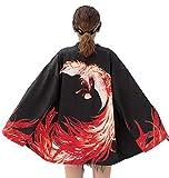 LAI MENG Damen Lose Kimono 3/4 Arm Cover up Leichte Jacke EU 34-46