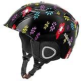 Soared Skihelm Snowboardhelm Herren Damen Kinder Ski Helm mit Winddicht Ohrenschützer Belüftung Fleece Futter