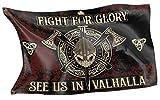 RAHMENLOS Original Design-Flagge für den Wikinger Fan: See us in Valhalla
