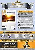TransOurDream ECHTE Inkjet Bügelfolie Transferfolie Transferpapier KEIN ABBLÄTTERN!KEIN VERBLASSEN! Bügelfolie für Tintenstrahldrucker für Light/helle T-Shirts und Textilien DIN A4X6 Blatt(Trans-1-6)