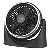 MVPower Ventilator, 23 cm Durchmesser mit 3 Geschwindigkeitsstufen und verstellbarem Neigungswinkel | schwarz
