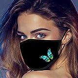1 Stück Schmetterlingsdruck Mundschutz, Staub Gesichts, Fashion Unise Stück Face Cover, Wiederverwendbare und waschbare Gesichts Mund, Staubschutzn, Süße Mundschutz Outdoor Home