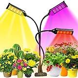 Pflanzenlampe, LED Grow Lampe 153 LEDs Pflanzenlicht Vollesspektrum Pflanzen Wachstumslampe mit 3 Köpfe, 7 Farbmodi, Timing Wachstumslampe für Zimmerpflanzen Gartenarbeit Bonsais