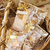 100 Bodenbeutel Sterne Gold 145 x 235 mm PP Beutel Weihnachten Weihnachtsbeutel Keksbeutel Kekstüten Gebäcktüten Gebäckbeutel Klarsichtbeutel Folienbeutel Tüten Zellglasbeutel Zellglastüten Eigenmarke der Fa. Poller in 40 my