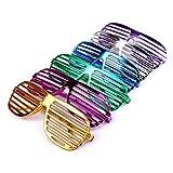 Schramm 6 Stück Partybrille metallic 6 Farben Partybrillen Bunt Gitterbrille Spaß Spass Brille Atzen Brillen Party Brille 6er Pack