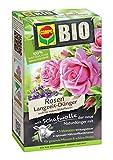 COMPO BIO Rosen Langzeit-Dünger für alle Arten von Rosen, Blütensträucher sowie Schling- und Kletterpflanzen, 5 Monate Langzeitwirkung, 750 g