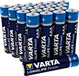 VARTA Longlife Power AAA Micro LR03 Batterie (20er Pack) Alkaline Batterie - Made in Germany - ideal für Spielzeug Taschenlampe Controller und andere batteriebetriebene Geräte