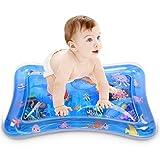 Fanmad Wassermatte Baby Wasserspielmatte Baby Spielzeug - Aufblasbare Baby Wassermatte ab 3 Monate Spaßaktivitäten Das Stimulationswachstum Ihres Babys (66 x 50cm)
