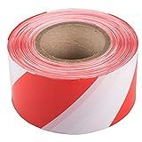 1 Rolle Absperrband 75 mm x 500 m rot/weiß Warnband Flatterband Markierungsband