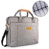 DOB SECHS 17.3 Zoll Laptoptasche Aktentaschen Handtasche Tragetasche Schulter Tasche Notebooktasche Laptop Sleeve Laptop hülle für bis zu 17-17.3 Zoll Laptop Dell Alienware/MacBook/Lenovo/HP,Grau