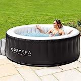 CosySpa aufblasbarer Whirlpool - Seifenblase Jacuzzi für den Außenbereich - 2-6 Personen Kapazität (Whirpool nur, 4 Personen)