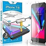 Power Theory Panzerglas kompatibel mit iPhone 8/iPhone 7 [2 Stück] - Schutzfolie mit Schablone, Panzerglasfolie, Panzerfolie, Glas Folie, Displayschutzfolie, Schutzglas