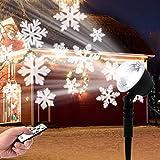 LED Schneeflocke Projektor, Projektorlampe Schneeflocke Außen mit Fernbedienung und Timer, Innen und Außen Dekoration